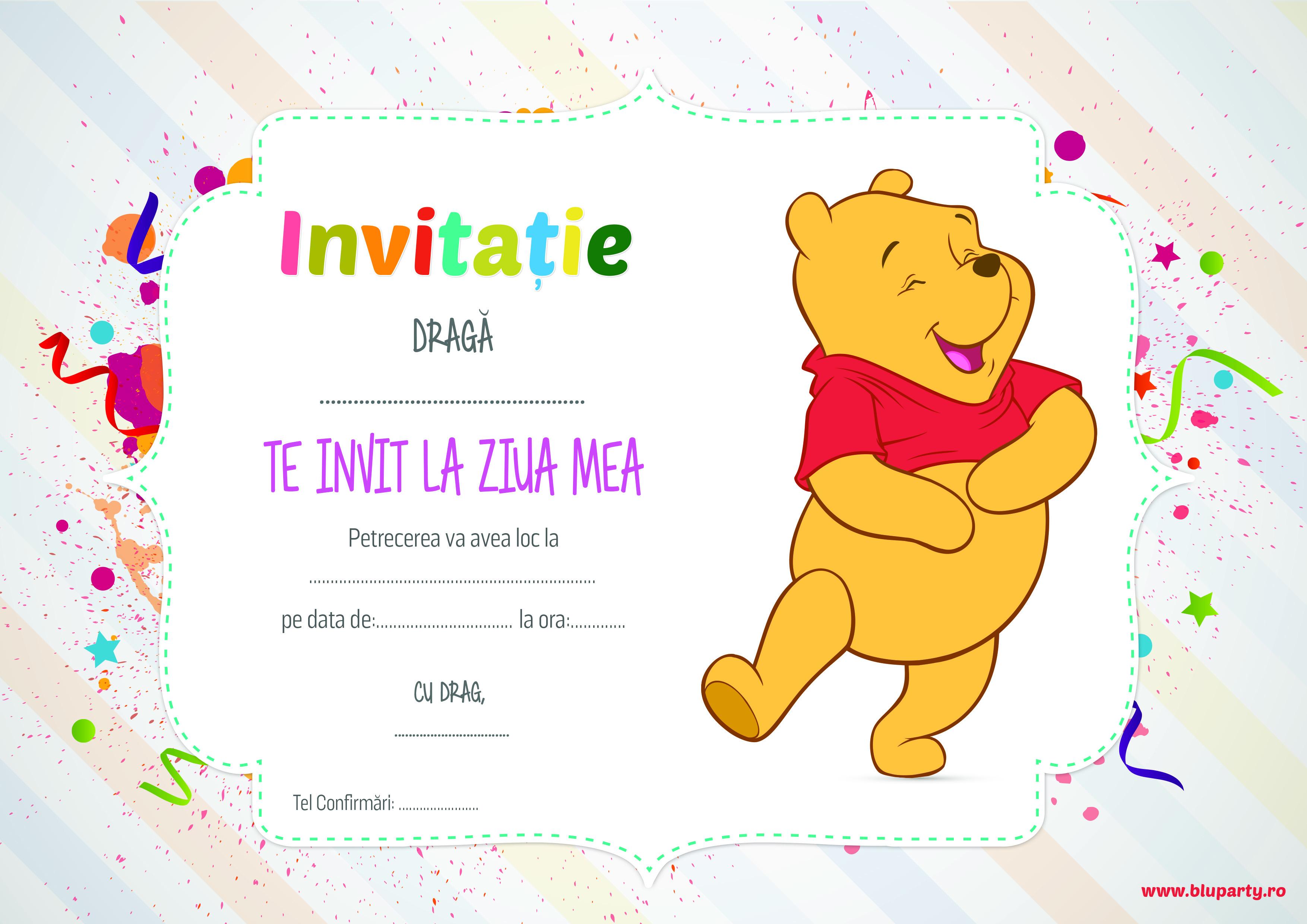 invitatii la zile de nastere copii Invitatii petrecere pentru copii   BluParty invitatii la zile de nastere copii