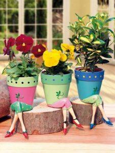Atelier BluParty Ghivece colorate/ ceramica/ pictura