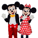 Mascote Disney Mickey si Minnie