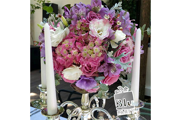 lumanari decorative cu aranjament floral botez