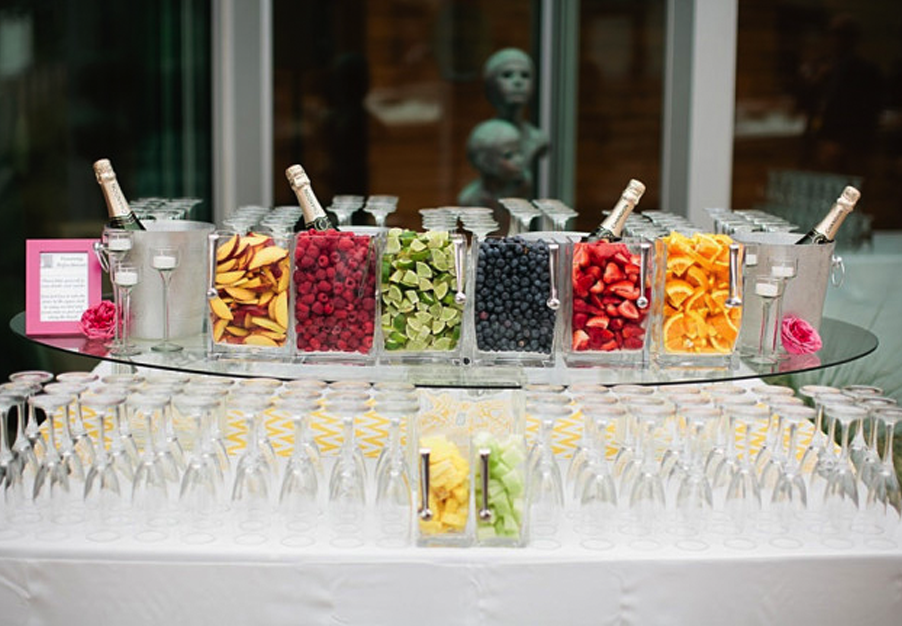 candy bar nunta fructe