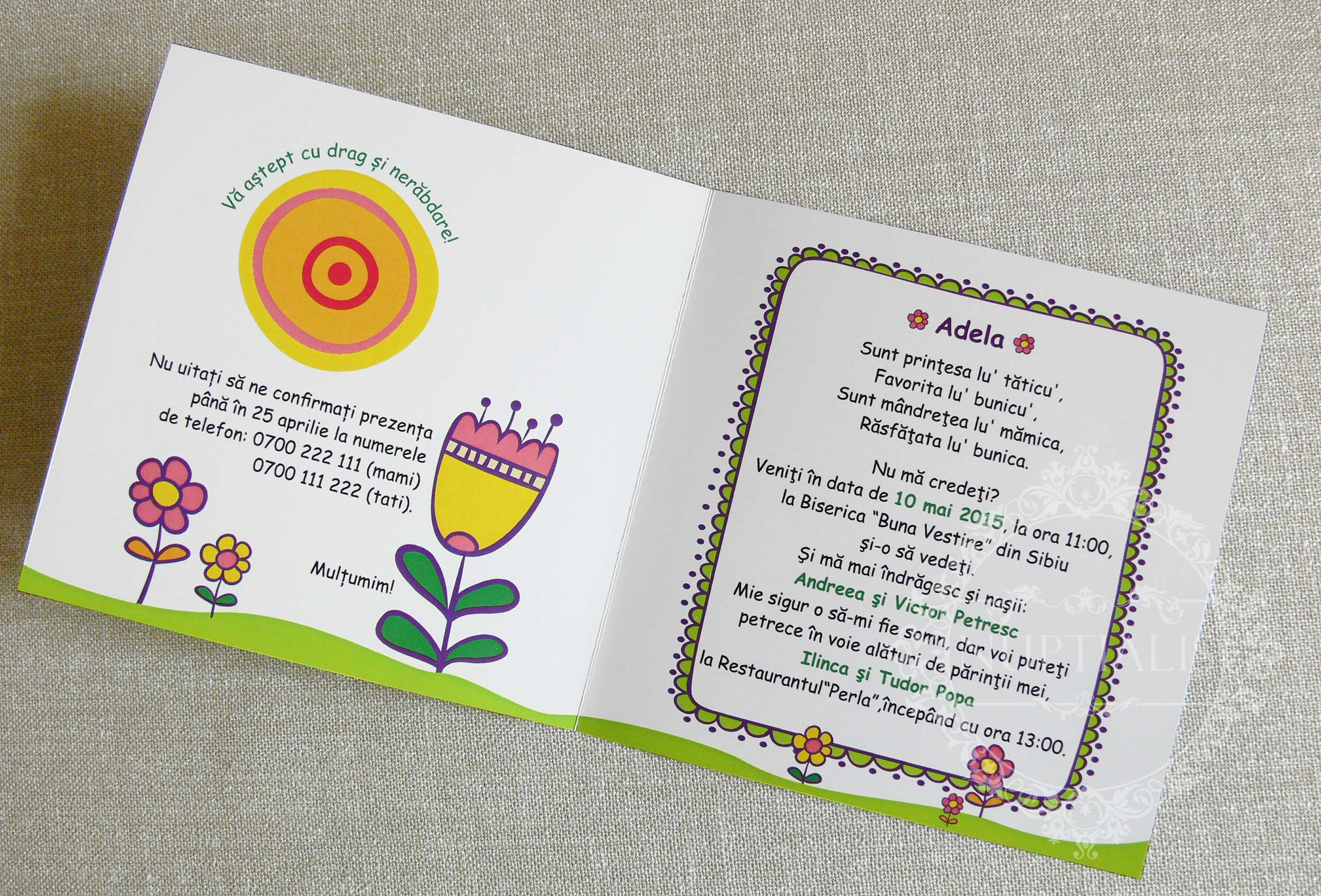 text invitatie botez