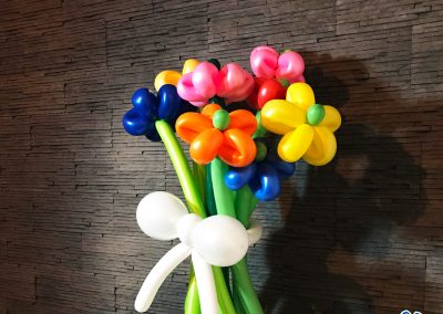 flori din baloane bluparty