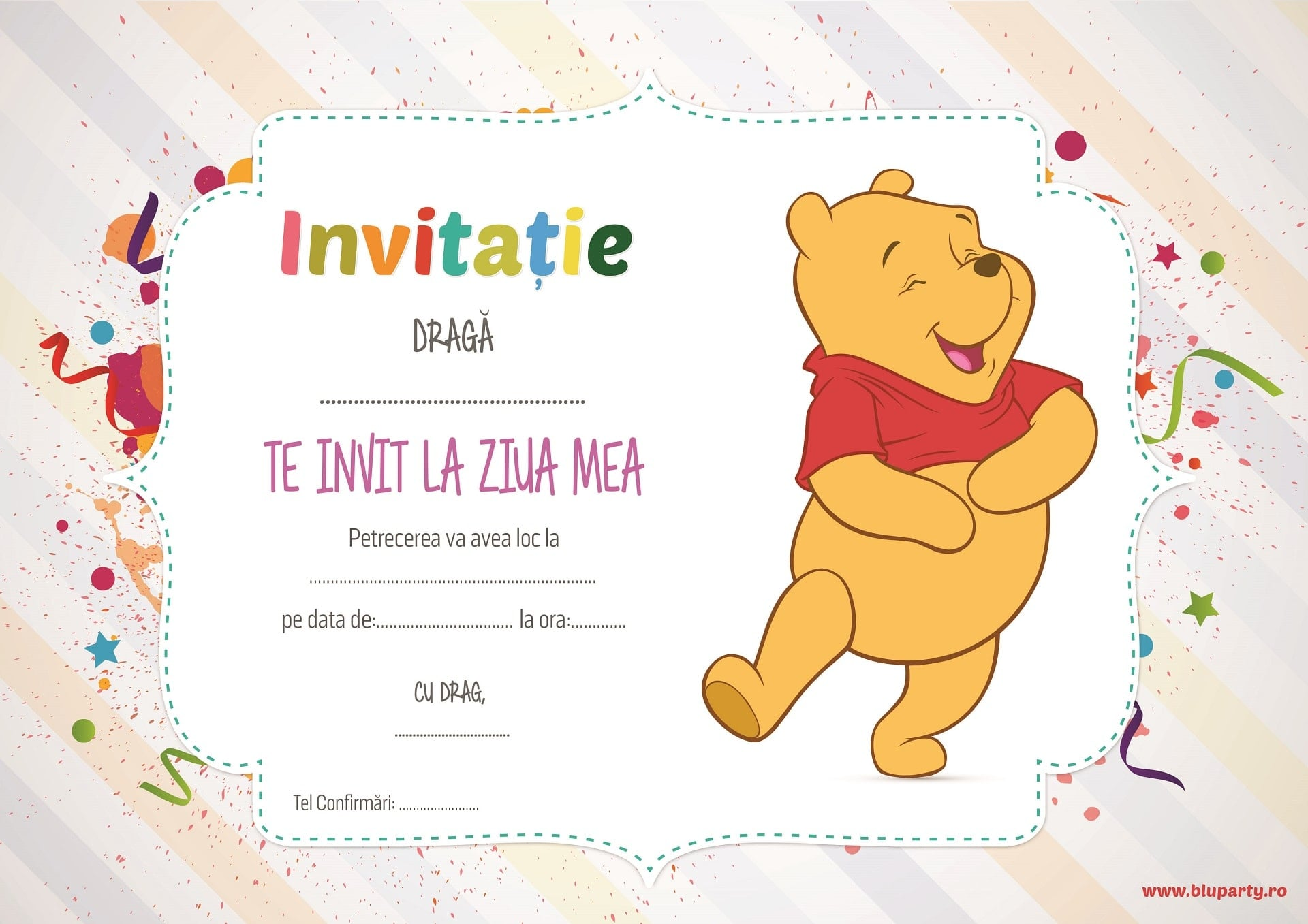 Descarca gratuit invitatia pentru petrecerea micutului tau! • mami. Ro.