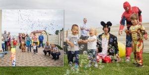 turn confetti party copii
